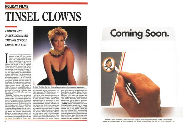 Article Preview: TINSEL CLOWNS, December 1988 | Maclean's