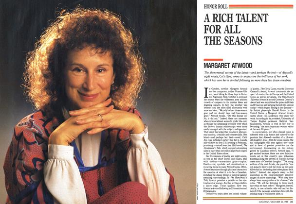 Article Preview: A RICH TALENT FOR ALL THE SEASONS, December 1988 | Maclean's