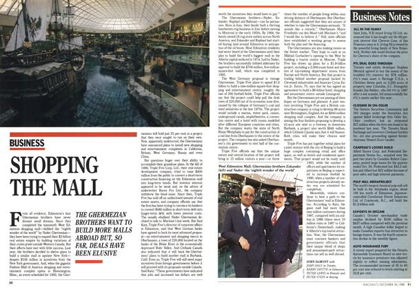 Article Preview: SHOPPING THE MALL, December 1988 | Maclean's