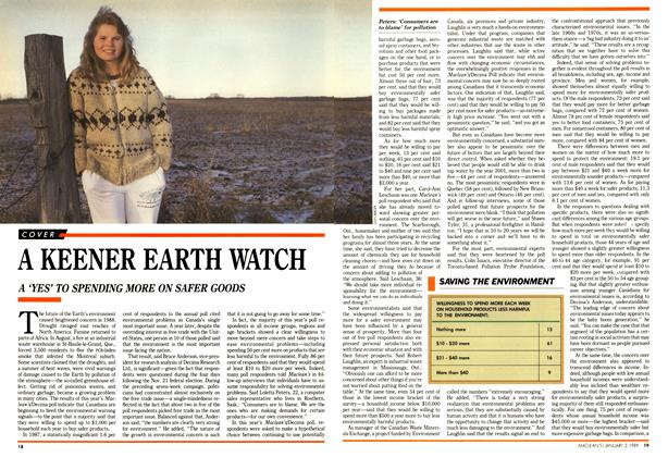 Article Preview: A KEENER EARTH WATCH, January 1989 | Maclean's