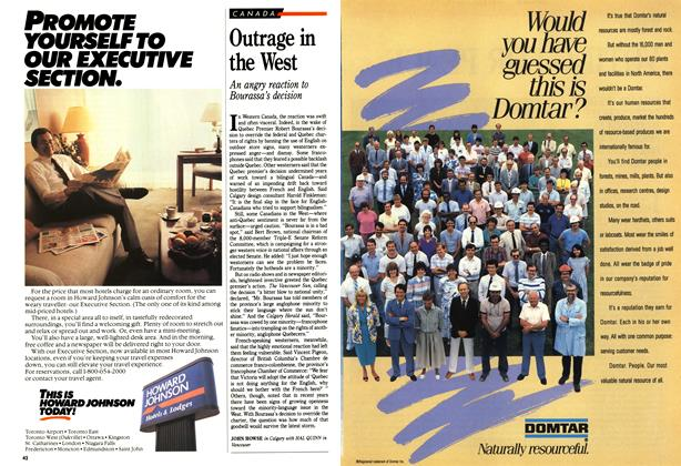 Article Preview: Outrage in the West, January 1989 | Maclean's