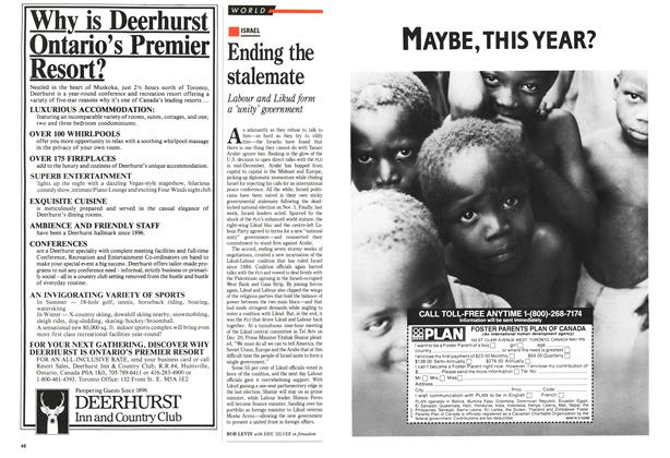 Article Preview: Ending the stalemate, January 1989 | Maclean's