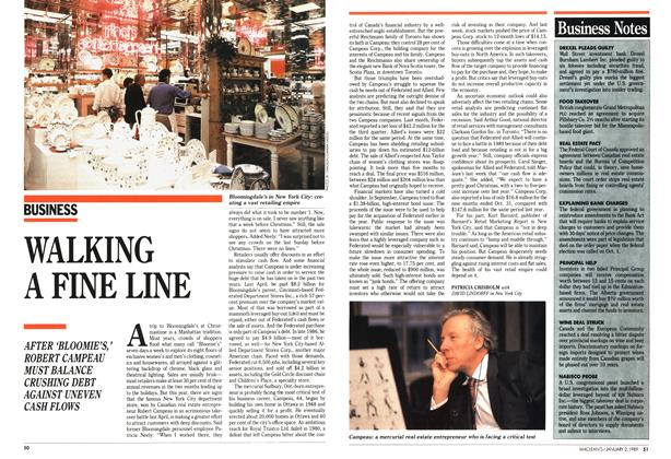 Article Preview: WALKING A FINE LINE, January 1989 | Maclean's