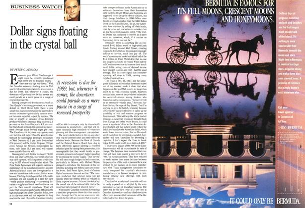 Article Preview: Dollar signs floating in the crystal ball, January 1989 | Maclean's