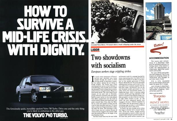 Article Preview: Two showdowns with socialism, January 1989 | Maclean's