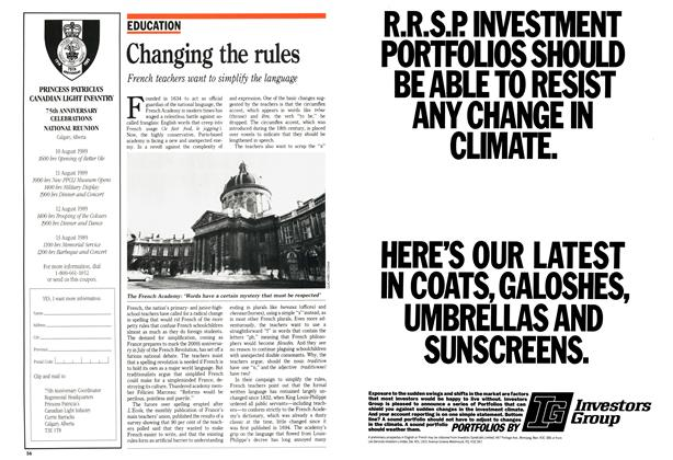 Article Preview: Changing the rules, January 1989 | Maclean's