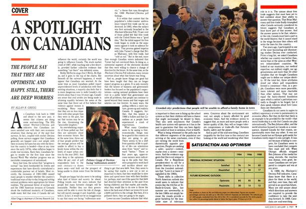 Article Preview: A SPOTLIGHT ON CANADIANS, January 1989 | Maclean's