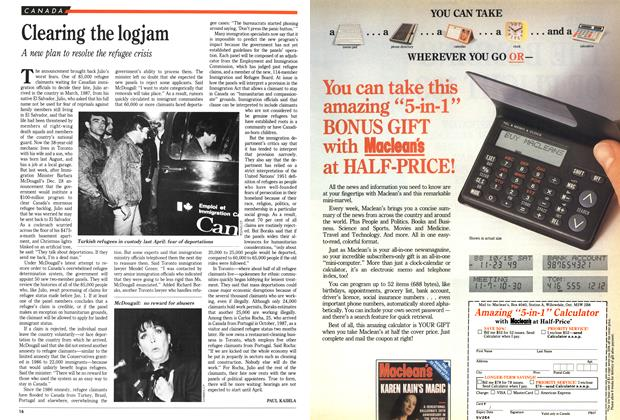 Article Preview: Clearing the logjam, January 1989 | Maclean's