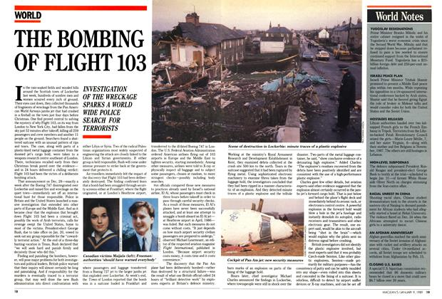 Article Preview: THE BOMBING OF FLIGHT 103, January 1989 | Maclean's