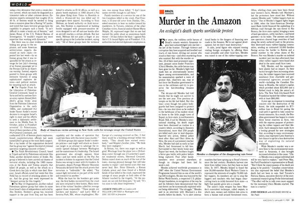 Article Preview: Murder in the Amazon, January 1989 | Maclean's