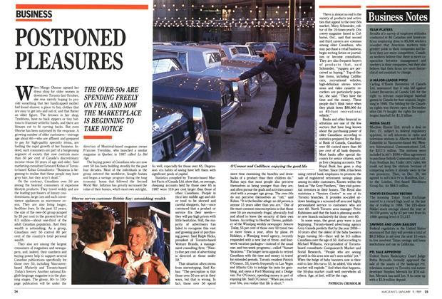 Article Preview: POSTPONED PLEASURES, January 1989   Maclean's