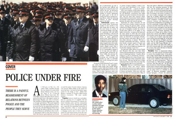 Article Preview: POLICE UNDER FIRE, January 1989 | Maclean's
