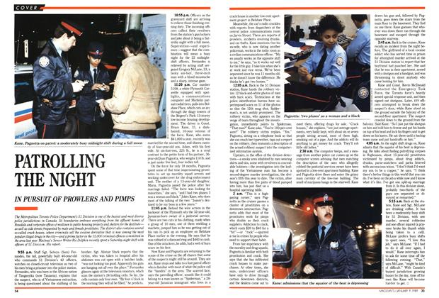 Article Preview: PATROLLING THE NIGHT, January 1989 | Maclean's