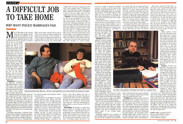 Article Preview: A DIFFICULT JOB TO TAKE HOME, January 1989 | Maclean's