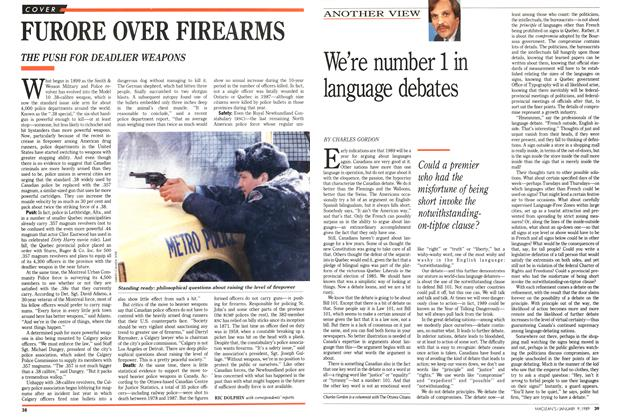 Article Preview: We're number 1 in language debates, January 1989 | Maclean's