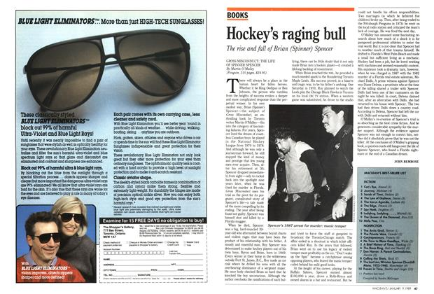 Article Preview: Hockey's raging bull, January 1989 | Maclean's
