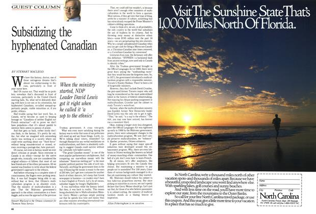 Article Preview: Subsidizing the hyphenated Canadian, January 1989 | Maclean's