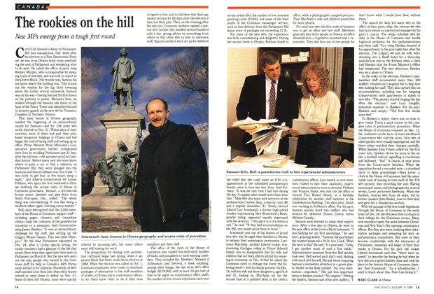 Article Preview: The rookies on the hill, January 1989 | Maclean's