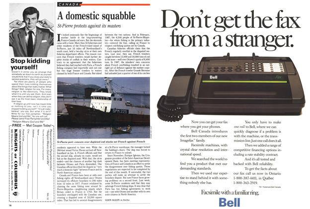 Article Preview: A domestic squabble, January 1989 | Maclean's