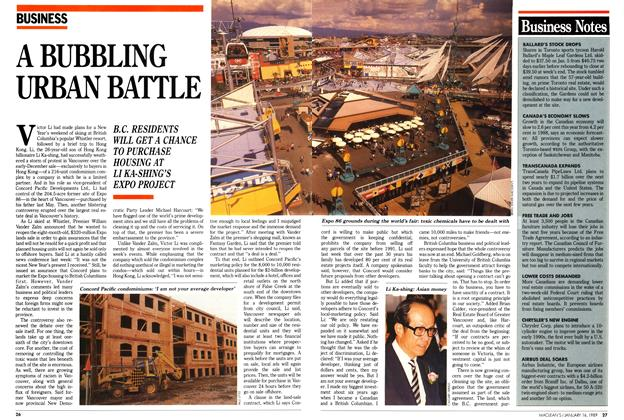 Article Preview: A BUBBLING URBAN BATTLE, January 1989 | Maclean's