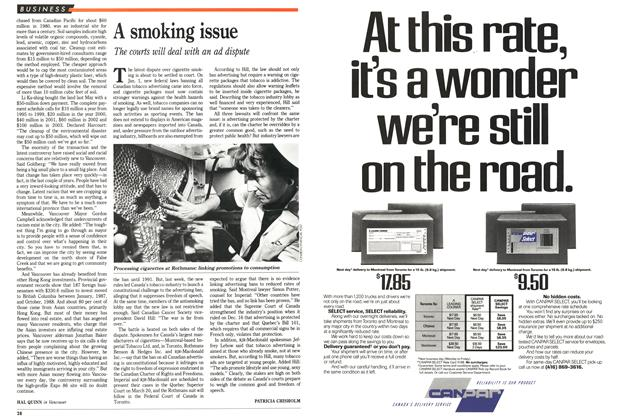 Article Preview: A smoking issue, January 1989 | Maclean's