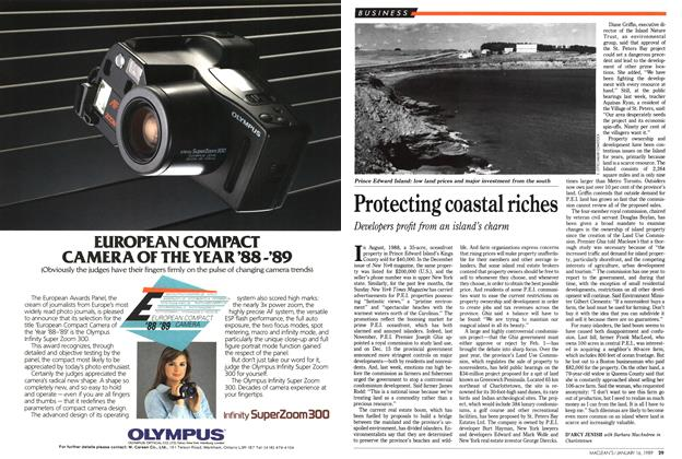 Article Preview: Protecting coastal riches, January 1989 | Maclean's