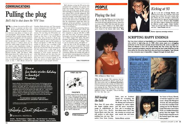 Article Preview: Pulling the plug, January 1989 | Maclean's