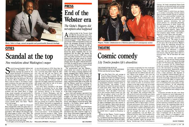 Article Preview: Cosmic comedy, January 1989 | Maclean's
