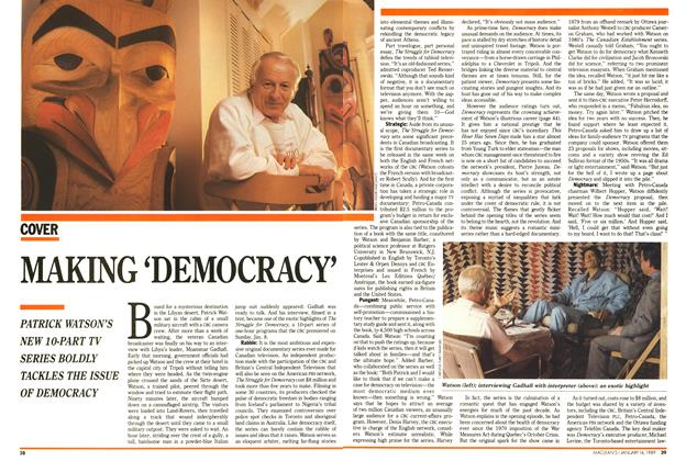Article Preview: MAKING 'DEMOCRACY', January 1989 | Maclean's
