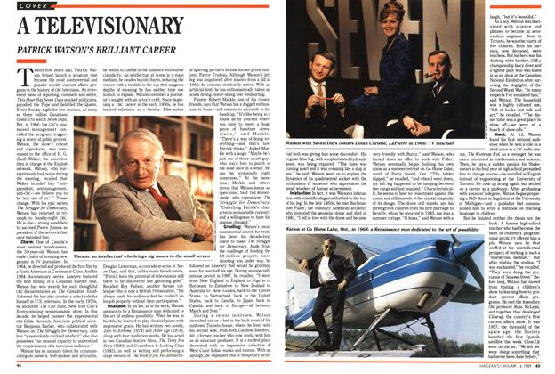 Article Preview: A TELEVISIONARY, January 1989 | Maclean's