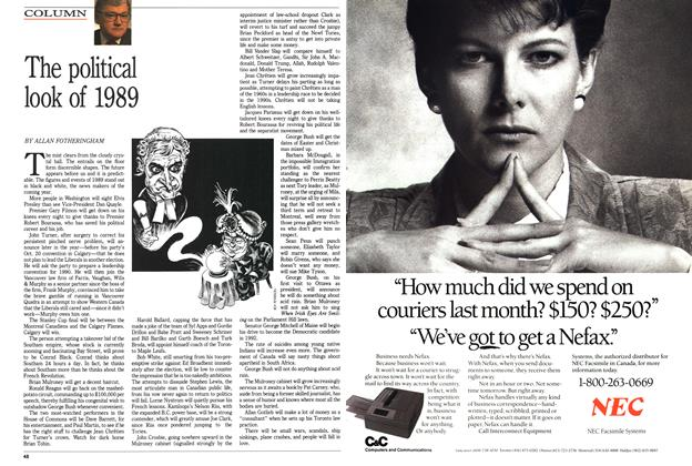 Article Preview: The political look of 1989, January 1989 | Maclean's