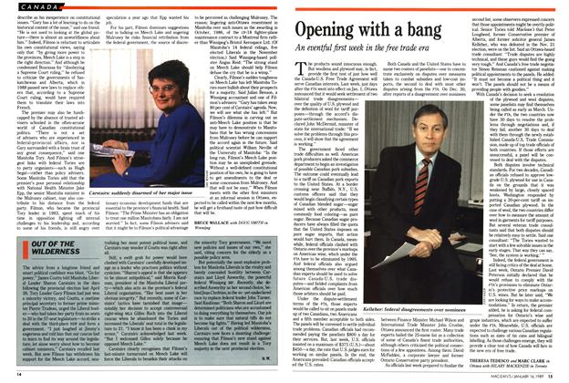 Article Preview: Opening with a bang, January 1989 | Maclean's