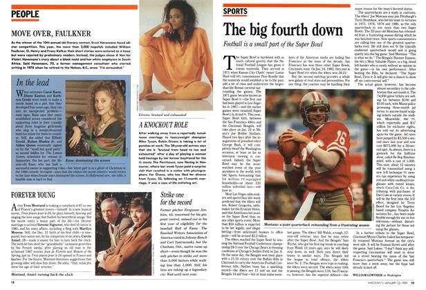 Article Preview: The big fourth down, January 1989 | Maclean's