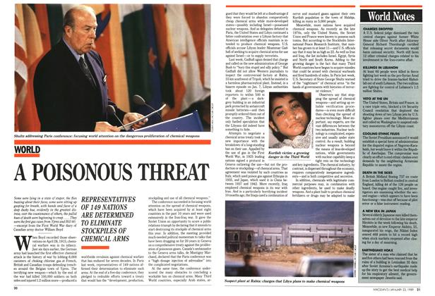 Article Preview: A POISONOUS THREAT, January 1989 | Maclean's