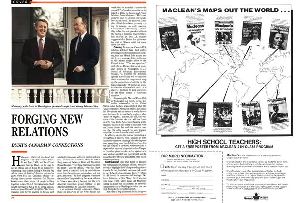 Article Preview: FORGING NEW RELATIONS, January 1989 | Maclean's