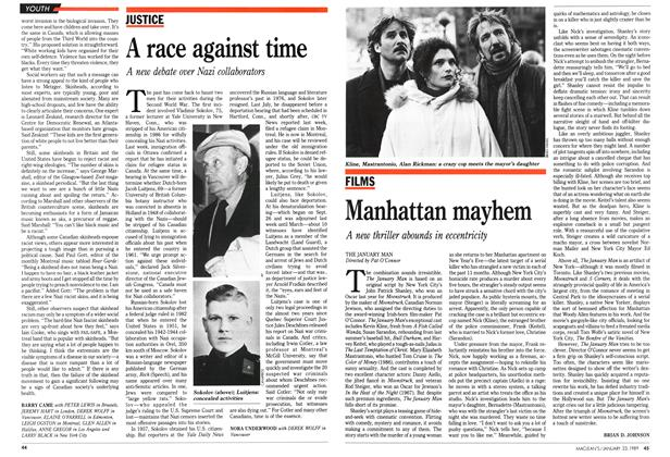 Article Preview: A race against time, January 1989 | Maclean's