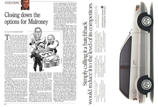 Article Preview: Closing down the options for Mulroney, January 1989 | Maclean's