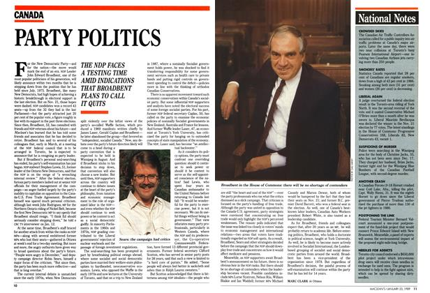 Article Preview: PARTY POLITICS, January 1989 | Maclean's