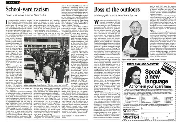 Article Preview: School-yard racism, January 1989 | Maclean's