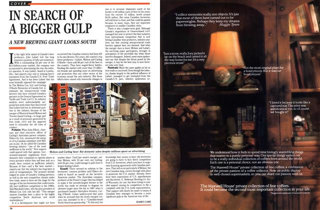 Article Preview: IN SEARCH OF A BIGGER GULP, January 1989   Maclean's