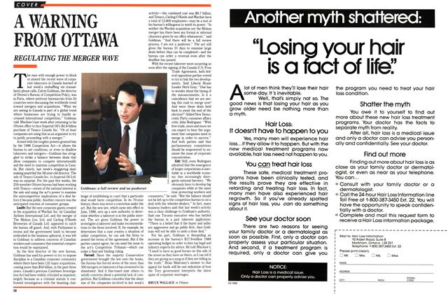 Article Preview: A WARNING FROM OTTAWA, January 1989   Maclean's