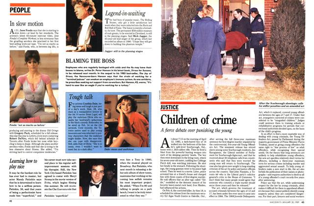 Article Preview: Children of crime, January 1989 | Maclean's