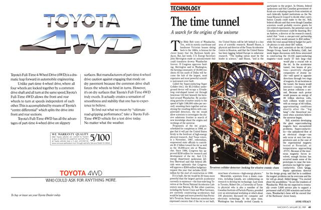 Article Preview: The time tunnel, January 1989 | Maclean's
