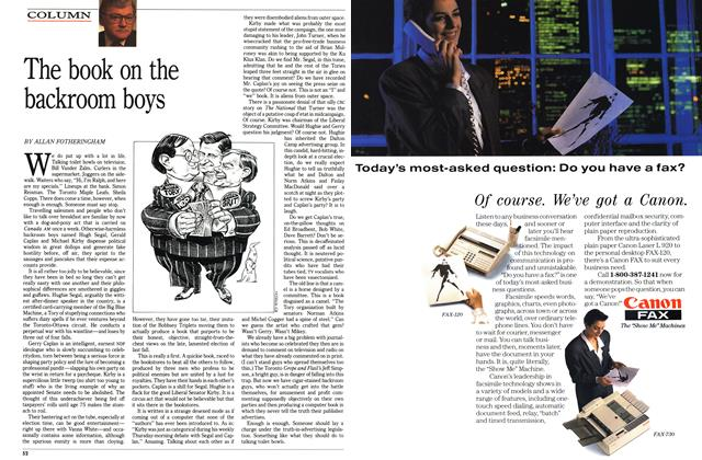Article Preview: The book on the backroom boys, January 1989 | Maclean's