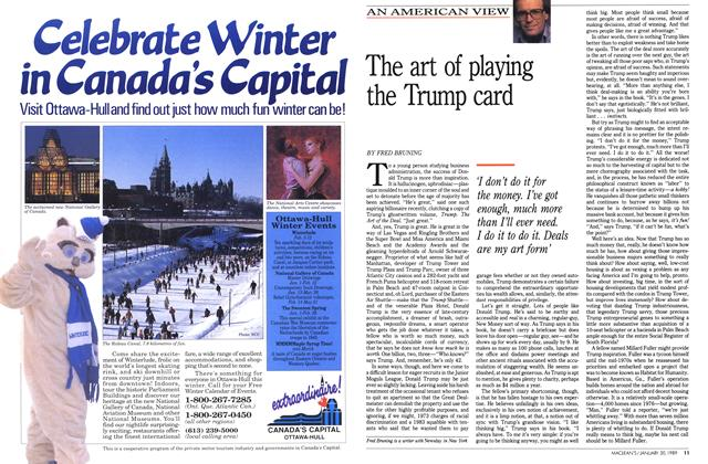 Article Preview: The art of playing the Trump card, January 1989 | Maclean's