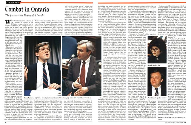 Article Preview: Combat in Ontario, January 1989 | Maclean's