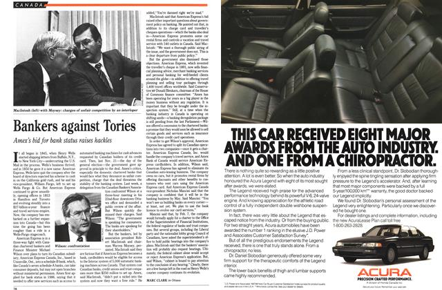 Article Preview: Bankers against Tories, February 1989 | Maclean's