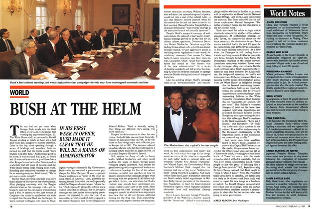 Article Preview: BUSH AT THE HELM, February 1989 | Maclean's