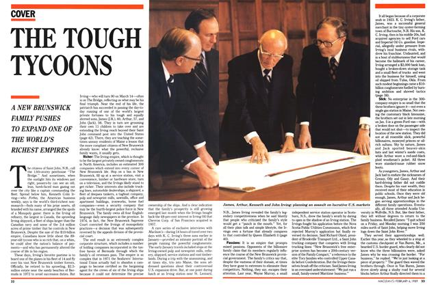 Article Preview: THE TOUGH TYCOONS, February 1989 | Maclean's