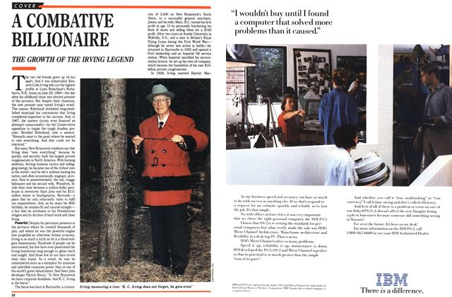 Article Preview: A COMBATIVE BILLIONAIRE, February 1989 | Maclean's